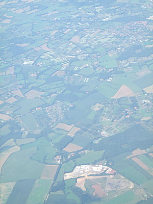 North West Germany from the air. See what i mean about lots of little wooded areas? There seemed to be far far more trees around in that part of Germany than wed find in England. Lots of Oak trees too.