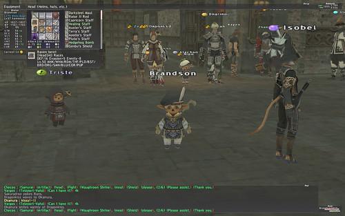 Final Fantasy XI Online: Ein richtiges Interface ist nicht vorhanden, es gibt an Gamepadsteuerung angepasste Kontextmenüs. (Screenshot © Brandson)