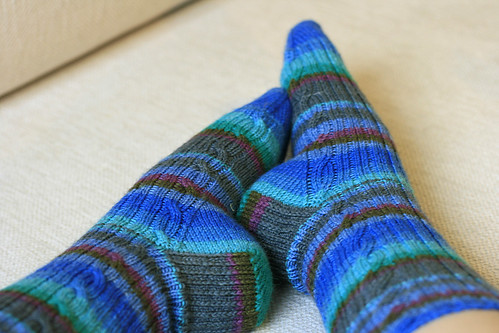Cable Rib socks