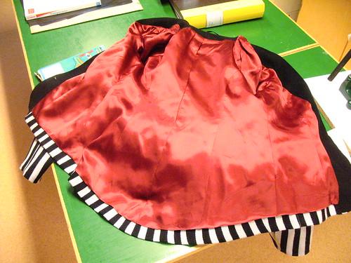 the finished jacket lining