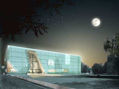 An artists rendering of the museum. (Image: Museum of the History of Polish Jews)