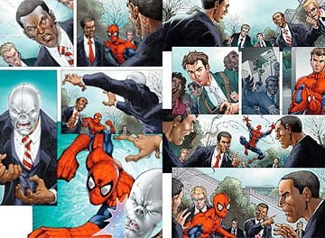 obama y spider-man en los cómics (3) por ti.