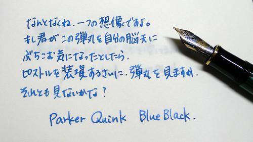 PARKER Quink Blueblack