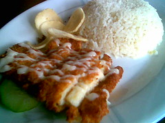 One o One Cafe's salad fish rice