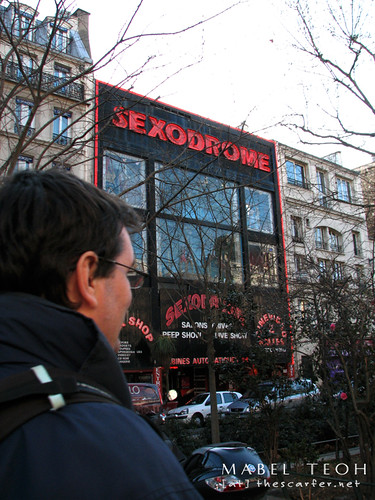 Along Pigalle, the red light district of Paris and yes, that's a sex shop...all three or more floors of it!