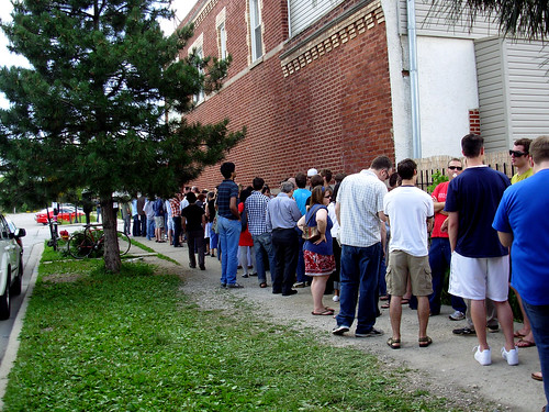 Line at Hot Dougs