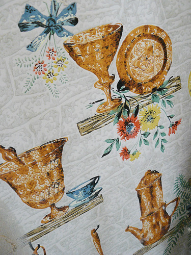 Old wallpaper in the kitchen