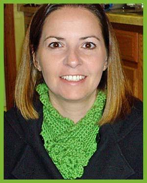 vintage green scarf