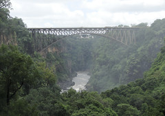 The Victoria Falls hotel in the distance