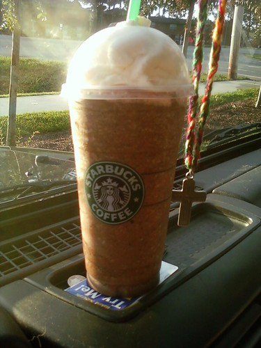 Double Chocolate Chip Frappucino...or so I thought...until I took a swallow and tasted coffee!!  Blech!