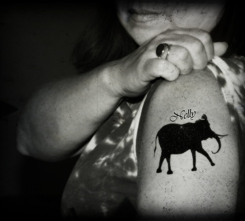 Elephant tattoo Nelly II