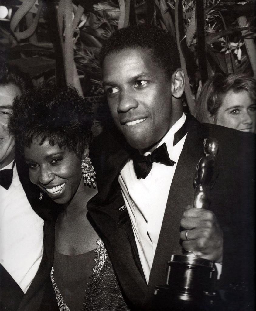 Denzel Washington, Paulette Washington at the Oscars, 1989