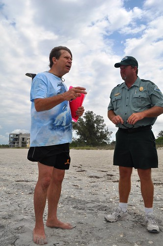 Dr. Stephen P. Leatherman (Dr. Beach) with Chad Lach at Don Pedro Island State Park, Fla., May 2011