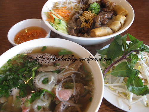 Pho Hoan Pasteur - steak pho and pork vermicelli