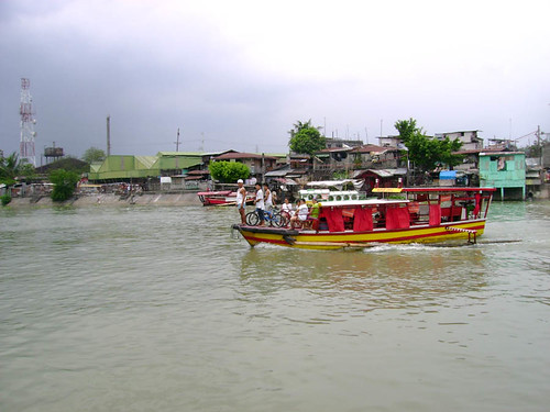 Larger boats that now cross the river