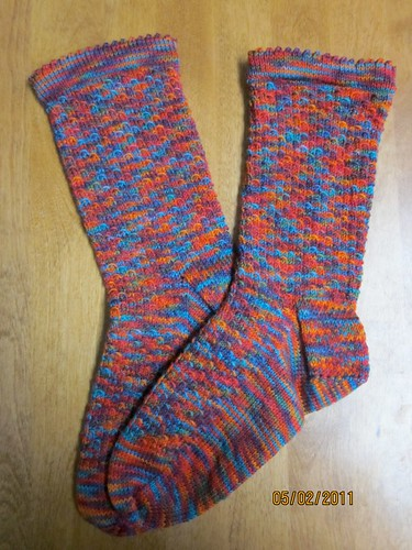 Here There Be Dragons Socks - Finished by Pointe Shoes Punk Rock And Purl Pix