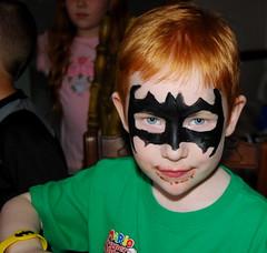 I turned Jacob into Batman at his 6th birthday party.