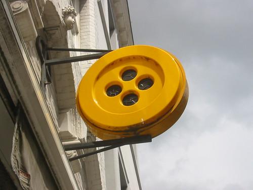 Giant button in Brugge, Belgium