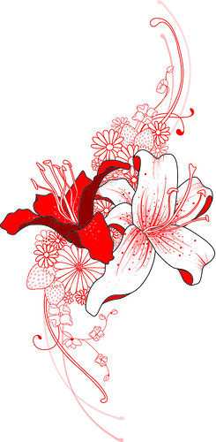 Red Lilies 1