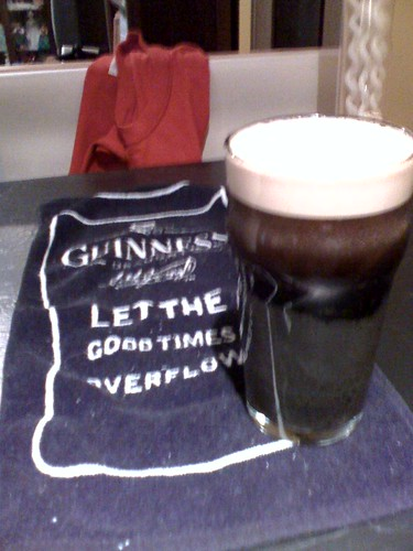 First Pint of Guinness