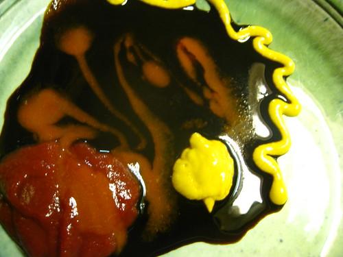 Jalapeno Catsup, HP Sauce, Cholula & Mustard