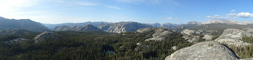 Looking towards Hetch Hetchy from the top of Daff Dome