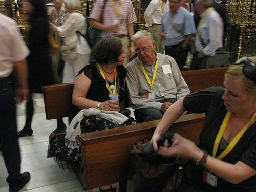 Evert Svensson, Sverige och Marianne Uri Overland, Norge, i samspråk i Cordobas moské/katedral