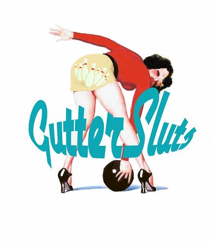 Gutterslut Bowling Logo