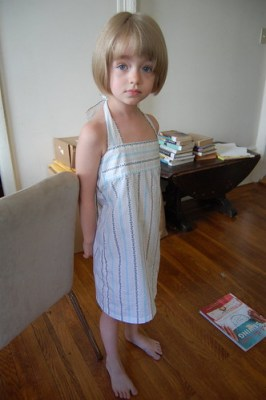 after: kid-sized dress
