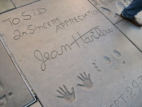 Jean Harlow's hand and feet prints