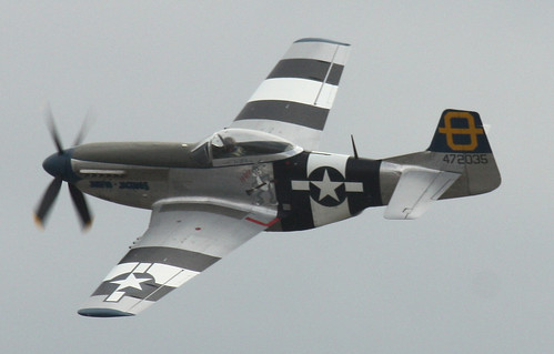 Mustang P51 (Jumping Jacques) At Southend Air Show May 2011 by Feggy Art
