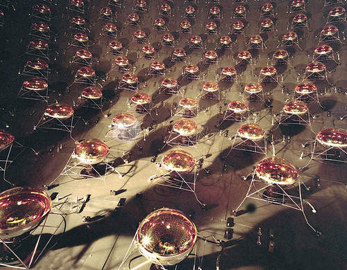 MiniBooNE photomultiplier tubes, image from Interactions.org image bank.