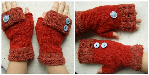 Button Back Mitts