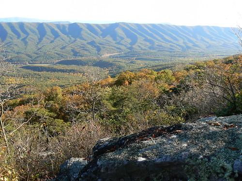 Sinking Creek Mountain - Top - Lichen Rock and View (Landscape)