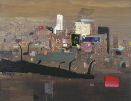 Shoe City (Smoggy IV), 2007, acrylic on canvas