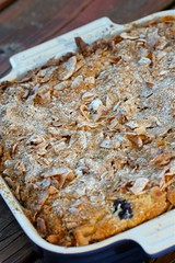 Blueberry Cake with Coconut Streusel