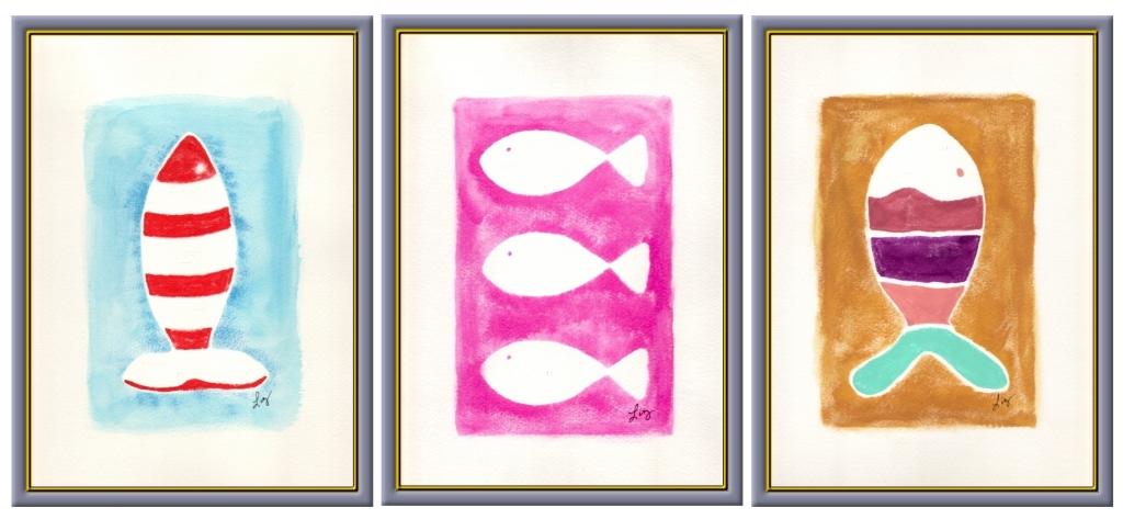 fish print framed