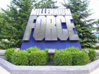 Cedar Point - Millennium Force Sign