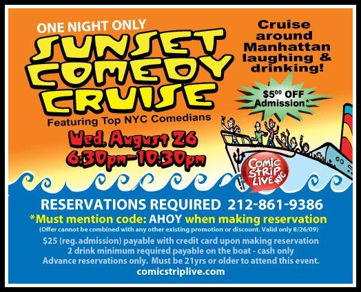 Sunset Comedy Cruise
