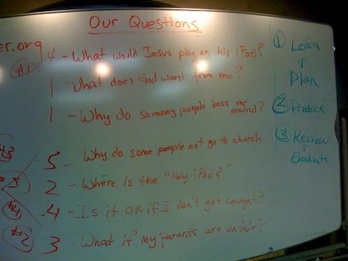 Sunday school lesson brainstorm