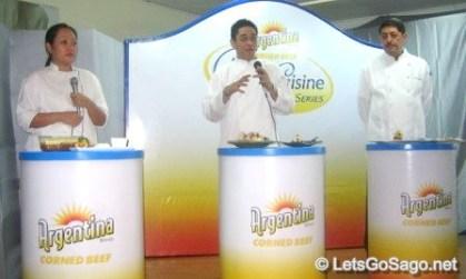 Chef Mia Carla Yan, Chef Eugene Raymundo, and Chef Sam de Leoz Jr.
