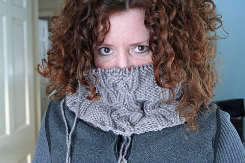 365.263 - cowl neck sweater, in progress