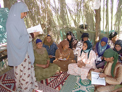 Farmer Field School facilitator teaching liter...