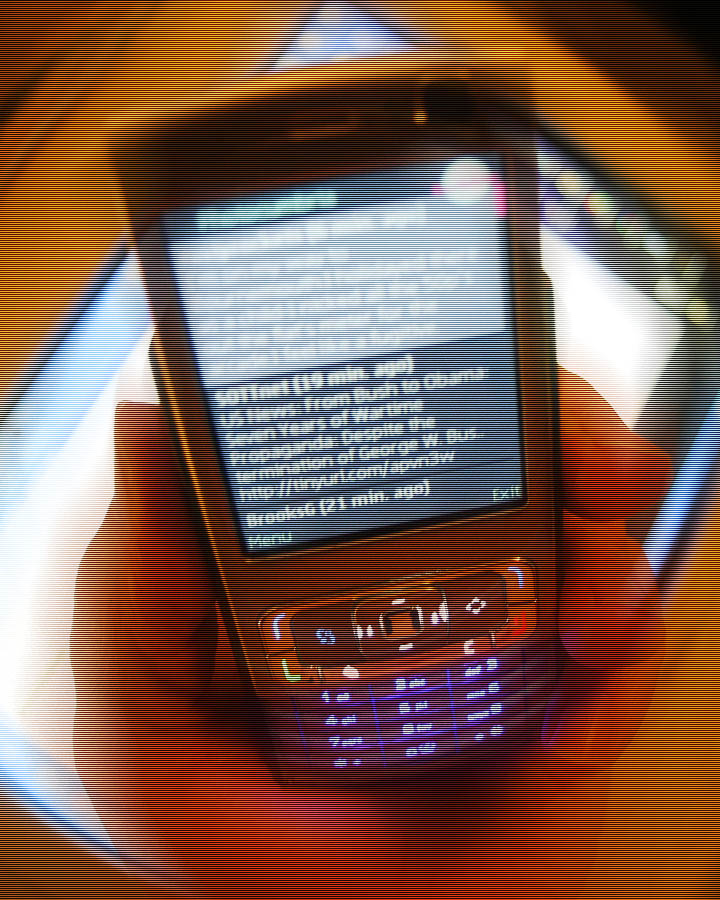Nokia N95 showing Twitter on Twibble