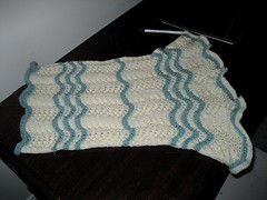 Lacy Cowl all spread out