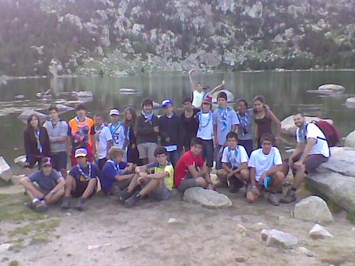 Isards a l'estany de Malniu