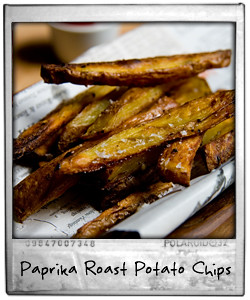 Homemade Paprika Roast Potato Chips