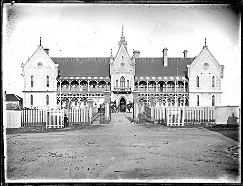 Newcastle Hospital Newcastle East, NSW, 1890 by Cultural Collections, University of Newcastle.