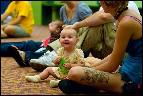 Rebecca Sanders and 8-month-old Jaden.
