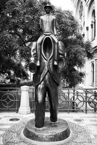 Kafka and Golem statue by you.